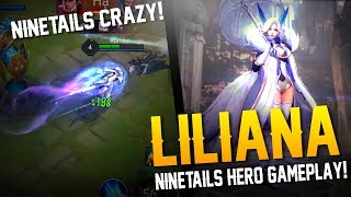 Arena of Valor [Test Server] - NINETAILS IS CRAZY! Liliana Gameplay