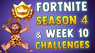 FORTNITE WEEK 10 CHALLENGES & SEASON 4 THEME - Fortnite Battle Royale Week 10 & Season 4 Leak