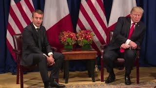 Emmanuel Macron meets Donald Trump: