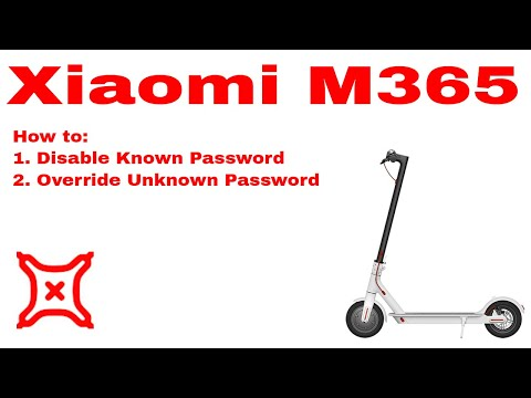 Xiaomi Mijia M365 Electric Scooter - how to disable/override
