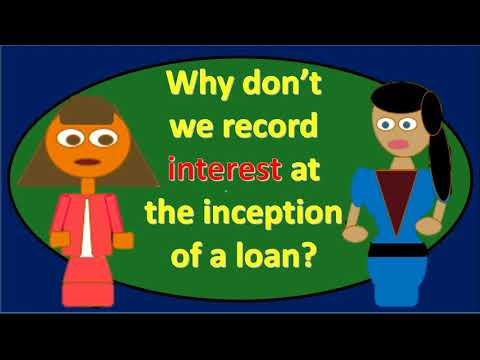 Why don't we record interest expense at inception of loan?