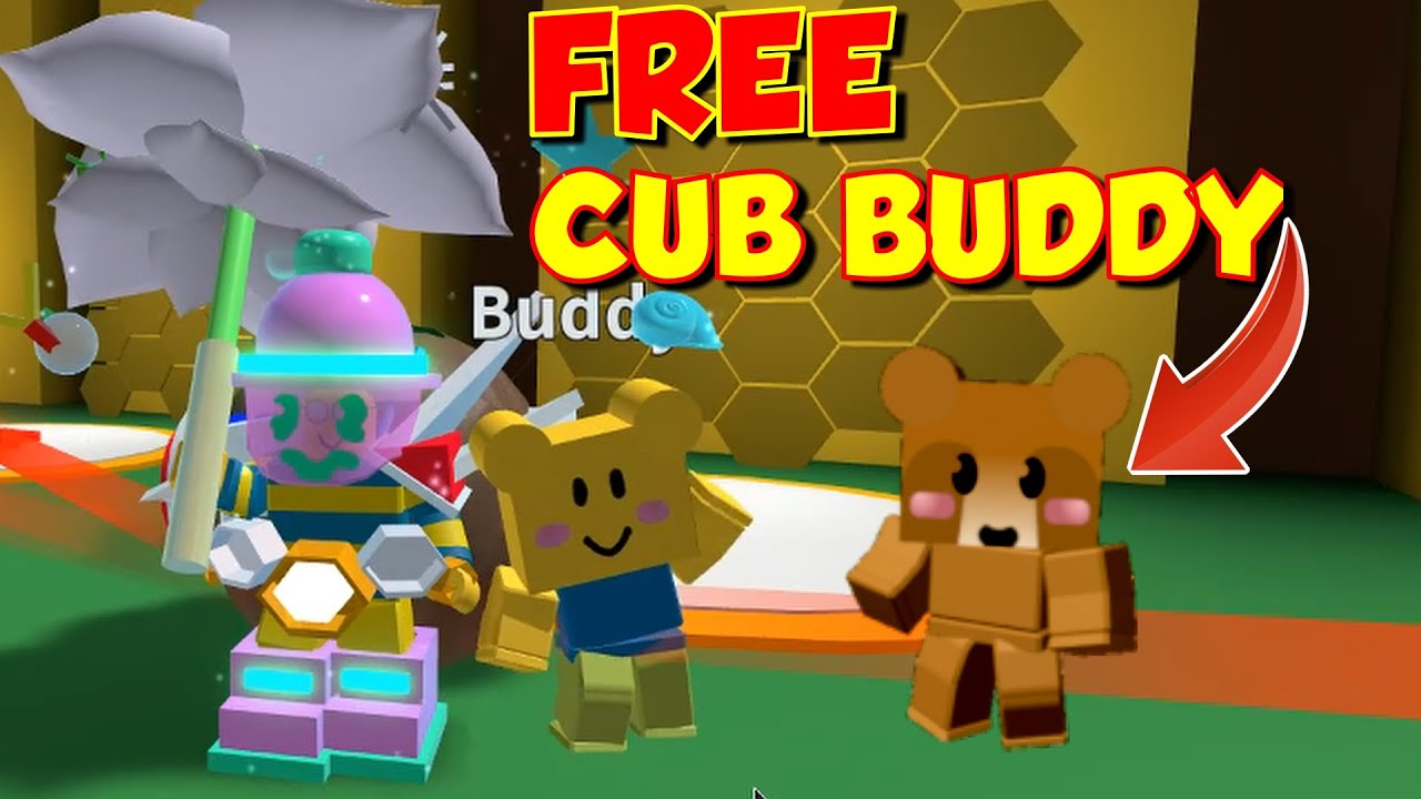How To Get A Free Cub Buddy Skin In Bee Swarm Simulator No Robux Youtube