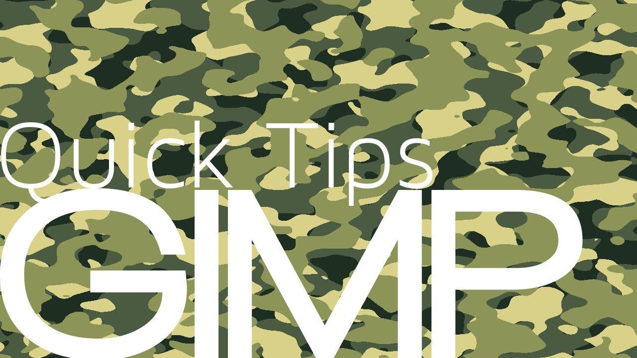Gimp Quick Tips: Camouflage Design