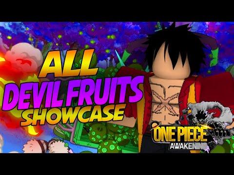 ALL DEVIL FRUITS SHOWCASE IN ONE PIECE AWAKENING