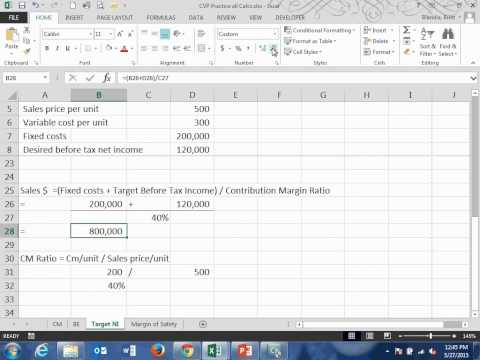 Achieving a Target Net Income