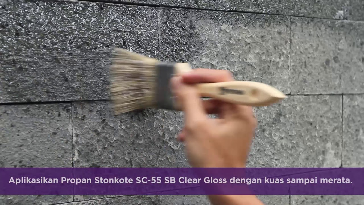 Harga Cat No Drop 2018 Cara Aplikasi Cat Batu Alam Propan Stonkote Sc 55 Sb Clear Gloss