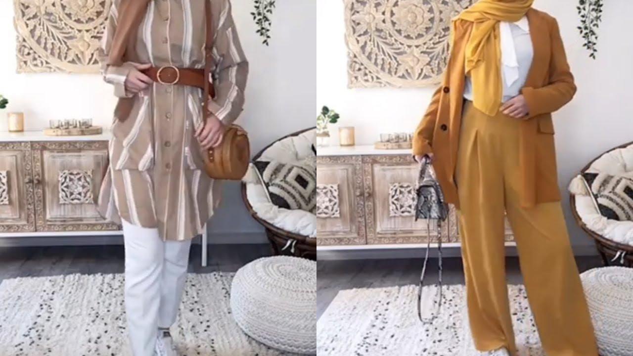 240e1b5475de6 تنسيقات ملابس محجبات للمدرسة Hijab lookbook - YouTube