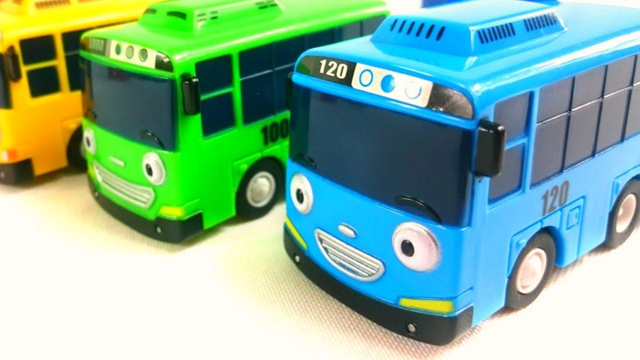 Машинки Спиди и Бас - Автобус Тайо и мини купер. Мультфильмы и .