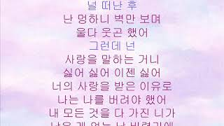 Brown Eyed Girls  (브라운아이드걸스) -  Abandoned (내가 날 버린 이유) 가사