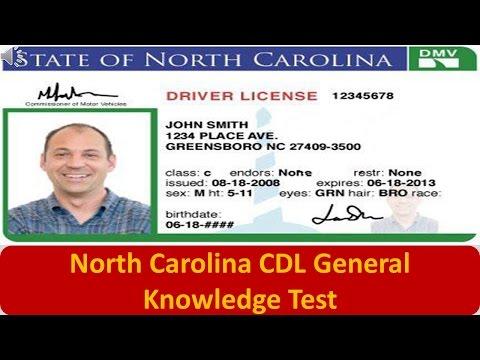 North Carolina CDL General Knowledge Test