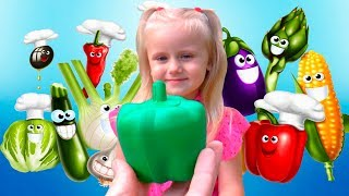 Learn Names of Fruits and Vegetables for kids Educational video - Baby Learning fruits & vegetables