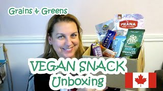 Vegan Gluten Free Snack Unboxing Canadian Edition