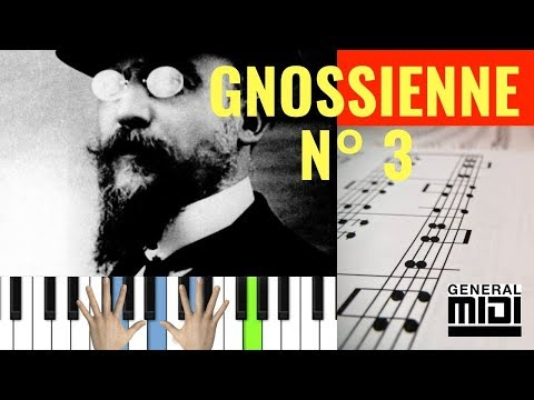 Gnossienne N° 3  Erik Satie Easy piano tutorial