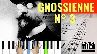 🎹 Gnossienne N° 3 / Erik Satie (Easy piano tutorial) 🎼