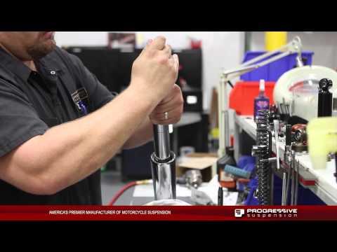 Progressive Suspension Monotube Fork Cartridge Kit on HD Touring Models