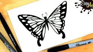 Como dibujar una mariposa paso a paso /How to draw a butterfly  Step by Step
