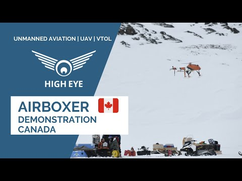 High Eye and Arctic UAV flying HEF 32 VTOL UAV in Canada