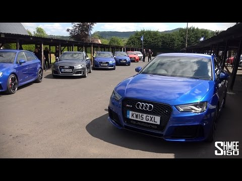 New Audi RS3 Test Drive, Hillclimb, Press Launch – and RS7 / RS6 Avant