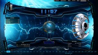 Skin Rainmeter Cybersphere (Video Español)