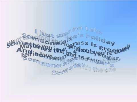 Gavin DeGraw- Sweeter (Lyrics)