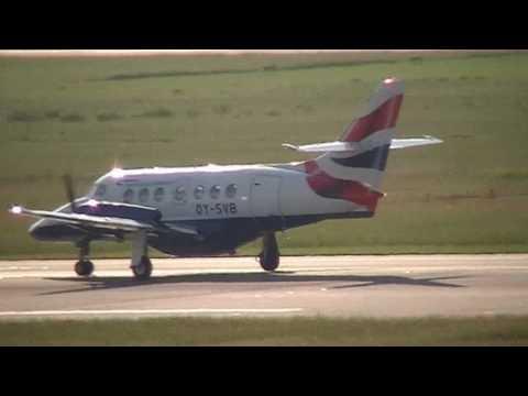 British Airways / British Aerospace Jetstream 31 Takeoff in Düsseldorf