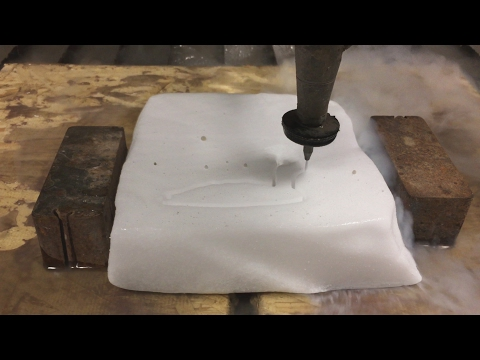 Dry Ice vs 60,000 PSI Waterjet - Dry Ice Experiments