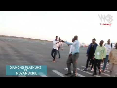 Diamond platnumz Mozambique arrived