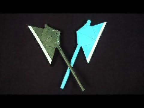 How to Make a Paper Battle Axe | Origami Paper Axe | Easy Tutorials