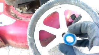 Craftsman High Wheel Mower - wheel repair for worn plastic inserts