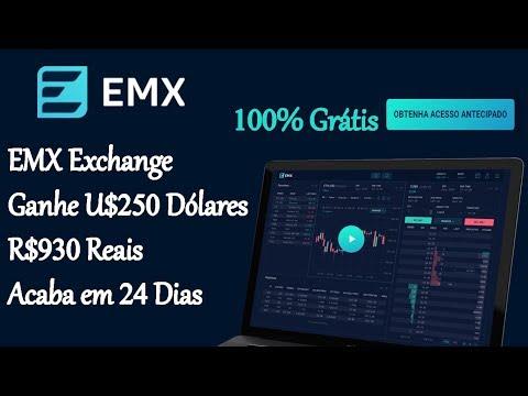 EMX Exchange | Ganhe U$250 Dólares R$930 Reais 100% Grátis | Acaba em 24 Dias