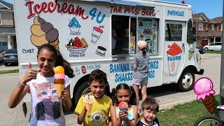 Kids Buy Ice Cream from the Ice Cream Truck! family fun vlog video