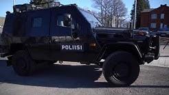 Hämeen poliisi esitteli Mercedes-Benz G280 CDI LAPV 5.4 -mallista ajoneuvoaan Lahdessa