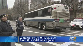 Woman Critically Injured Hit After Being Hit By MTA Bus On the East Side