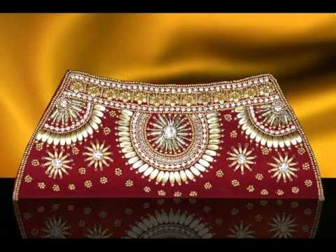 Indian Wedding Gift Bags For Sale : Indian Clutch Bags by www.indiafashionexpo.com - YouTube