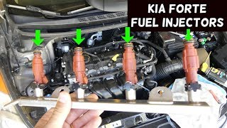 HOW TO REMOVE AND REPLACE FUEL INJECTORS ON KIA FORTE