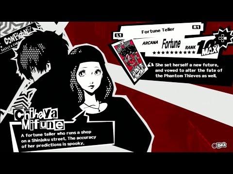 Persona 5: Chihaya Mifune Confidant Fortune Platonic And Romantic Routes