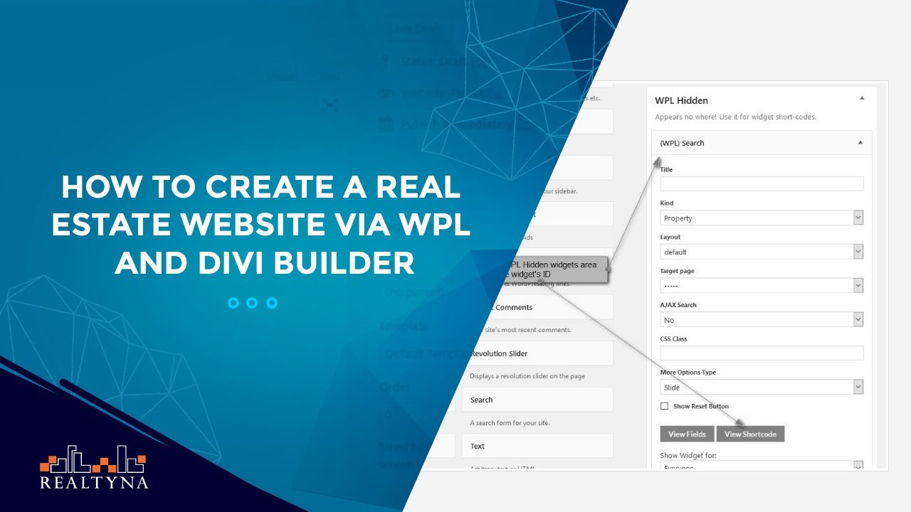 how to create a real estate website via wpl and divi