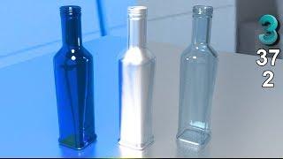 🍾 Модификатор shell 3ds max. Бутылка создание. Стеклянная бутылка. Курс. Урок 37  🍾2