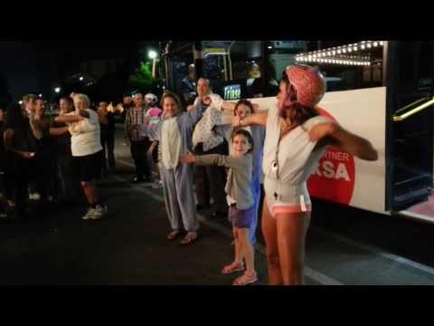 Adelaide Fringe 2014 Flash Mob on the free bus