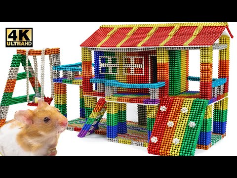 DIY - How To Build Playhouse for Hamster From Magnetic Balls (Satisfying) | Magnet World Series
