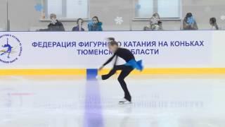 Дарья Батяева, 10 лет, элементы: дорожка и вращение по спец. программе