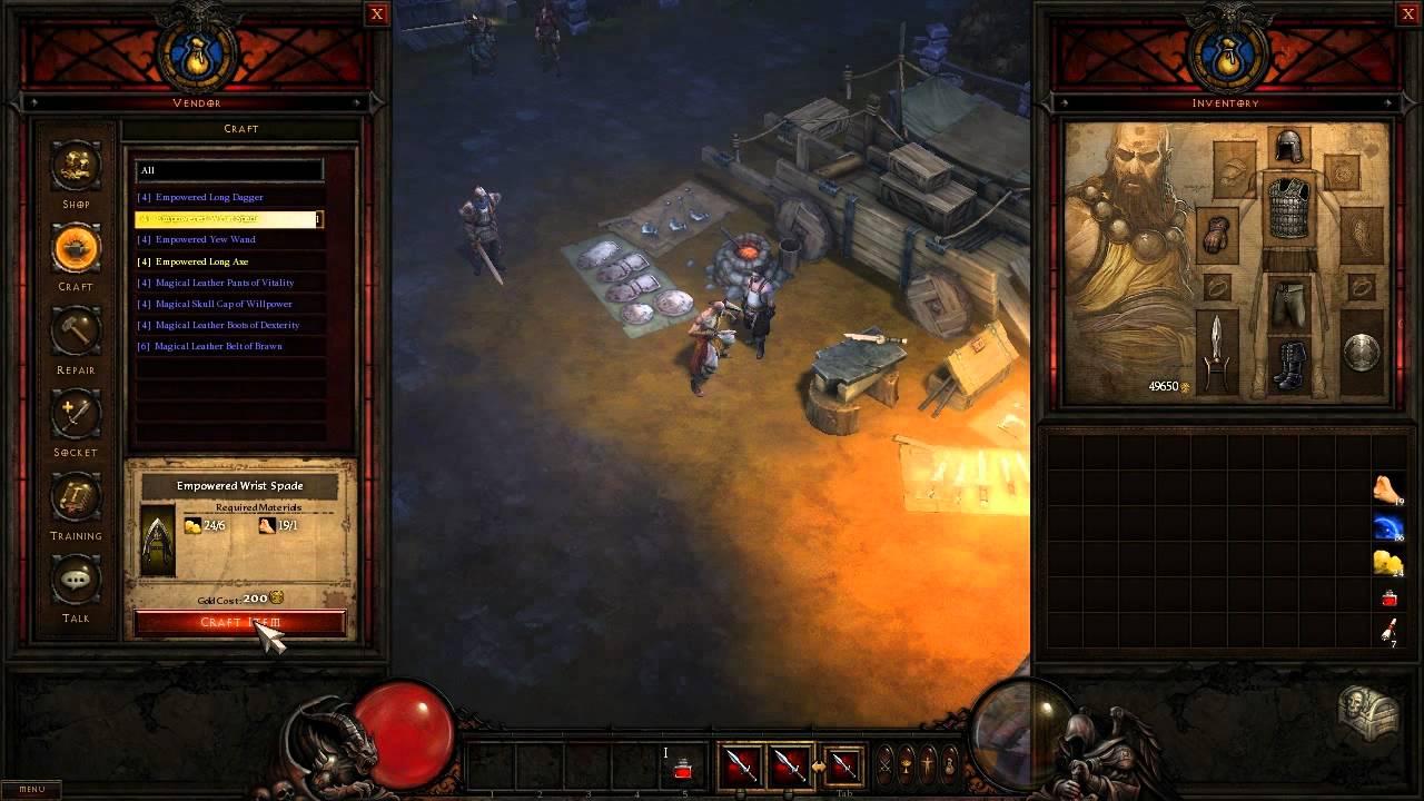 Diablo 3 gamescom 2010 artisan crafting at the caravan for Diablo 3 crafting items