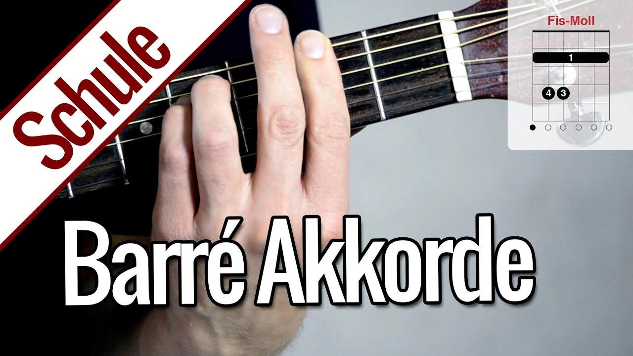 So klappt's mit dem Barré Akkord - Gitarre lernen - YouTube