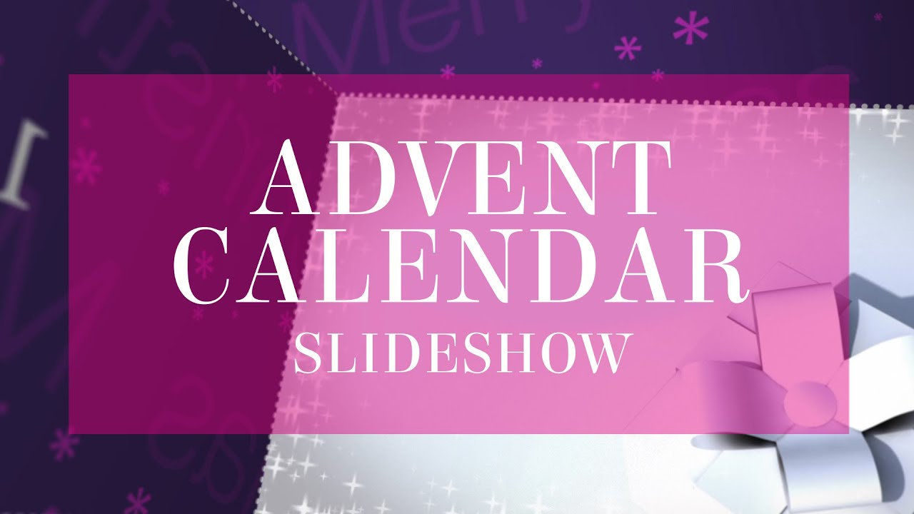 Advent Calendar Slideshow After Effects Template Youtube