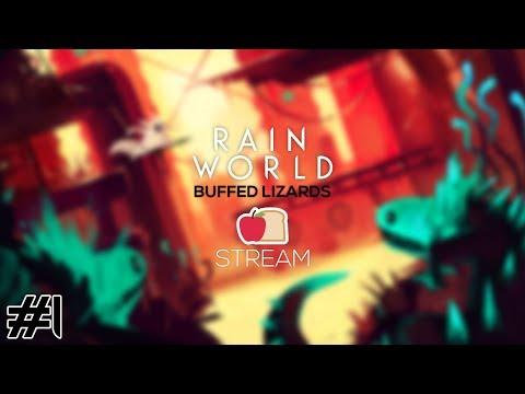 [Applebread] Rain World - Buff Lizards Mod #1 (Full Stream)