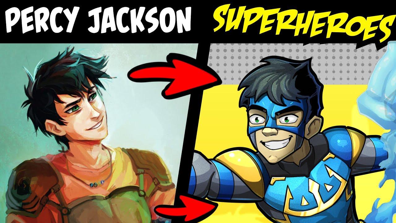 PERCY JACKSON Characters as SUPERHEROES?! (Stories & Speedpaint)