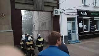 Горит электрощит на Карла-Маркса 84 Ставрополь