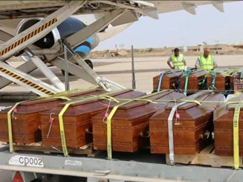 ليبيا تسلم جثث الاقباط المصريين الذين ذبحهم داعش  - 14:25-2018 / 5 / 15