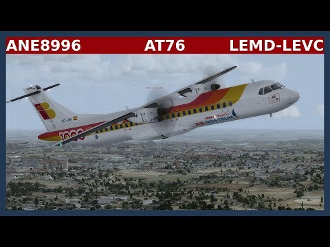 ANE8996: LEMD-LEVC - ATR72-600 [P3D]