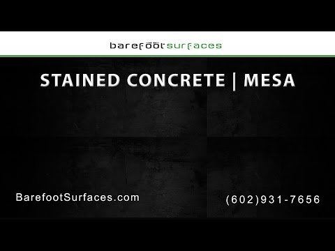 Mesa Stained Concrete Services | Barefoot Surfaces